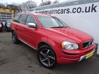 USED 2013 13 VOLVO XC90 2.4 D5 R-DESIGN AWD 5d AUTO 200 BHP One Lady Owner Full Volvo History+7 Seater