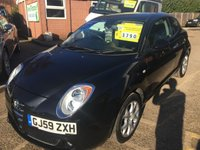USED 2009 59 ALFA ROMEO MITO 1.4 LUSSO 16V 3 DOOR 95 BHP IN BLACK WITH 75000 MILES IN IMMACULATE CONDITION APPROVED CARS ARE PLEASED TO OFFER THIS  ALFA ROMEO MITO 1.4 LUSSO 16V 3 DOOR 95 BHP IN BLACK WITH 75000 MILES IN IMMACULATE CONDITION IN BLACK WITH A FULL SERVICE HISTORY SERVICED AT 8K,17K,21K AND 53K A EARLY MITO AT A VERY SENSIBLE PRICE.