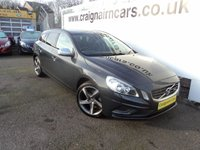 USED 2012 62 VOLVO V60 1.6 D2 R-DESIGN 5d AUTO 113 BHP Two Owners 41000 Miles Full Service History