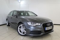 USED 2014 14 AUDI A6 2.0 AVANT TDI ULTRA S LINE 5DR AUTOMATIC 188 BHP FULL AUDI SERVICE HISTORY + LEATHER SEATS + SAT NAVIGATION + PARKING SENSOR + BLUETOOTH + CRUISE CONTROL + MULTI FUNCTION WHEEL + CLIMATE CONTROL + 18 INCH ALLOY WHEELS