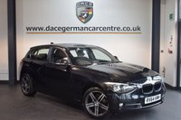 USED 2015 64 BMW 1 SERIES 2.0 118D SPORT 5DR 141 BHP + FULL BMW SERVICE HISTORY + BLUETOOTH + DAB RADIO + RAIN SENSORS + PARKING SENSORS + 17 INCH ALLOY WHEELS +