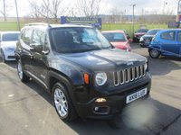 USED 2016 16 JEEP RENEGADE 1.6 M-JET LONGITUDE 5d 118 BHP LOVELY LOW MILEAGE EXAMPLE !!