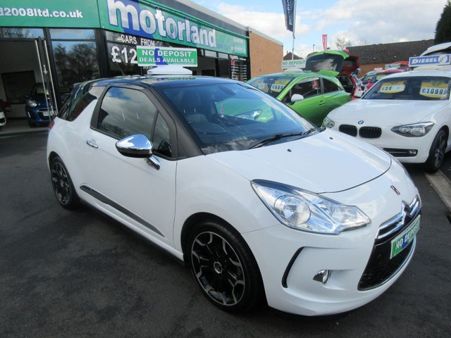 USED 2012 61 CITROEN DS3 1.6 E-HDI AIRDREAM DSPORT PLUS 3d 111 BHP **FULL SERVICE HISTORY** NO DEPOSIT DEALS