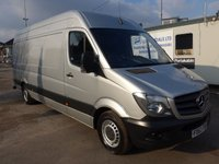 2014 MERCEDES-BENZ SPRINTER 313 CDI LWB HI ROOF, 130 BHP [EURO 5], AIR CON, 1 COMPANY OWNER £SOLD