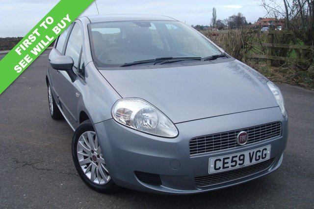 2009 59 FIAT GRANDE PUNTO 1.2 MULTIJET ELEGANZA 5d 89 BHP LOW TAX GROUP