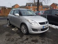 USED 2012 12 SUZUKI SWIFT 1.2 SZ3 5d 94 BHP CHEAP TO RUN AND GOOD SPECIFICATION WITH ALLOYS AND AIR CONDITIONING!..EXCELLENT FUEL ECONOMY!..LOW CO2 EMISSIONS..£30 ROAD TAX...FULL HISTORY...ONLY 33401 MILES FROM NEW!!