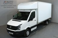 USED 2016 16 VOLKSWAGEN CRAFTER 2.0 CR35 TDI C/C LUTON 3d 136 BHP LWB RWD REAR TAIL LIFT FITTED CRUISE CONTROL LUTON VAN ONE OWNER FROM NEW