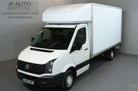 USED 2016 16 VOLKSWAGEN CRAFTER 2.0 CR35 TDI 136 BHP LWB TAIL LIFT FITTED LUTON VAN ONE OWNER FROM NEW, SERVICE HISTORY