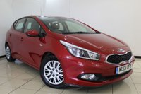 USED 2013 13 KIA CEED 1.4 CRDI 1 5DR 89 BHP SERVICE HISTORY + BLUETOOTH + MULTI FUNCTION WHEEL + RADIO/CD + ELECTRIC WINDOWS + AIR CONDITIONING