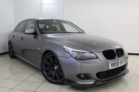USED 2008 58 BMW 5 SERIES 3.0 530D M SPORT 4DR AUTOMATIC 232 BHP SERVICE HISTORY + HEATED LEATHER SEATS + BLUETOOTH + PARKING SENSOR + CRUISE CONTROL + MULTI FUNCTION WHEEL + AIR CONDITIONING + 18 INCH ALLOY WHEELS