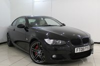 USED 2008 08 BMW 3 SERIES 3.0 330D M SPORT 2DR AUTOMATIC 232 BHP SERVICE HISTORY + HEATED LEATHER SEATS + SAT NAVIGATION PROFESSIONAL + PARKING SENSOR + BLUETOOTH + CRUISE CONTROL + MULTI FUNCTION WHEEL + 18 INCH ALLOY WHEELS