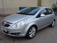 USED 2009 09 VAUXHALL CORSA 1.4 DESIGN 16V TWINPORT 5d AUTO 90 BHP FULL SERVICE RECORD (7 STAMPS) +  HALF LEATHER TRIM ++   FULL YEAR MOT +  AUX CONNECTION +