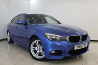 USED 2015 15 BMW 3 SERIES 2.0 320D M SPORT GRAN TURISMO 5DR AUTOMATIC 181 BHP HEATED LEATHER SEATS + SAT NAVIGATION PROFESSIONAL + REVERSE CAMERA + PARKING SENSOR + BLUETOOTH + CRUISE CONTROL + MULTI FUNCTION WHEEL + 18 INCH ALLOY WHEELS