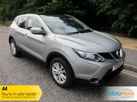USED 2014 14 NISSAN QASHQAI 1.5 DCI ACENTA PREMIUM 5d 108 BHP Great Spec One Owner Nissan Qashqai with Satellite Navigation, Glass Panoramic Roof, Air Conditioning, Cruise Control, Alloy Wheels and Service History.