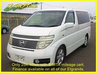2002 NISSAN ELGRAND Highway Star 3.5 Automatic 8 Seats,Only 25K Miles with BIMTA certificate £6000.00