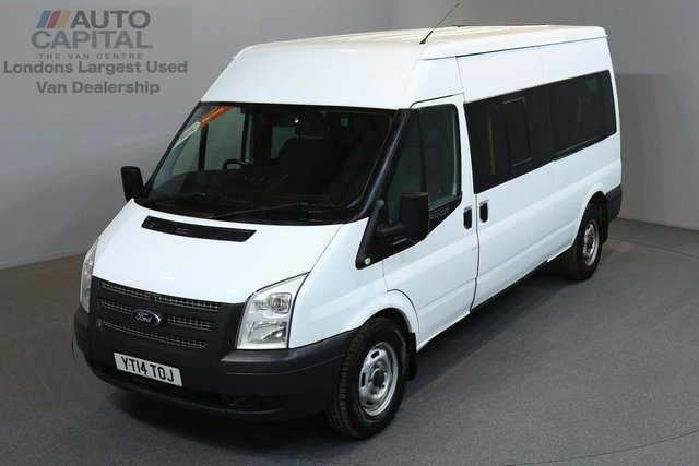 2014 14 FORD TRANSIT 2.2 350 134 BHP L3 LWB A/C 14 SEATER MINIBUS  ONE OWNER FROM NEW, FULL SERVICE HISTORY