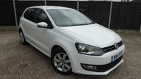 USED 2014 14 VOLKSWAGEN POLO 1.2 MATCH EDITION 5dr Great Spec, Cruise, FSH