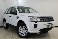 USED 2012 12 LAND ROVER FREELANDER 2.2 TD4 XS 5DR AUTOMATIC 150 BHP FULL SERVICE HISTORY + HEATED HALF LEATHER SEATS + SAT NAVIGATION + BLUETOOTH + PARKING SENSOR + CRUISE CONTROL + MULTI FUNCTION WHEEL + 17 INCH ALLOY WHEELS
