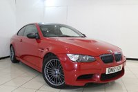 USED 2012 12 BMW M3 4.0 M3 2DR AUTOMATIC 415 BHP FULL SERVICE HISTORY + LEATHER SEATS + SAT NAVIGATION PROFESSIONAL + PARKING SENSOR + BLUETOOTH + CRUISE CONTROL + MULTI FUNCTION WHEEL + 18 INCH ALLOY WHEELS