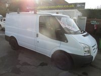 USED 2012 12 FORD TRANSIT 2.2 T280, SHORT WHEEL BASE, LOW ROOF, ALLOYS, ROOF BARS, ** NO VAT! **