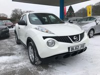 USED 2013 62 NISSAN JUKE 1.6 VISIA 5d 117 BHP NEED FINANCE? WE STRIVE FOR 94% ACCEPTANCE