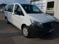 USED 2015 65 MERCEDES-BENZ VITO 1.6 109 BLUETEC 8 SEATER TOURER PRO, 88 BHP, REVERSE CAMERA, 1 COMPANY OWNER