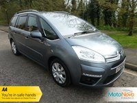 "USED 2011 60 CITROEN C4 GRAND PICASSO 1.6 EXCLUSIVE HDI EGS 5d 110 BHP Very Nice top of the range Grand C4 Picasso Exclusive with Seven Seats, Climate Control, Cruise Control, 17"" Alloy Wheels and Service History"