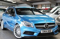 "USED 2014 14 MERCEDES-BENZ A CLASS 2.0 A45 AMG 4MATIC 5d 360 BHP AMG Exterior Carbon-Fibre Trim Package	£2,250 COMAND Online with Media Interface	£2,100 Surround sound system - Harman Kardon Logic 7 with Dolby digital 5.1 and DTS	£680 19"" AMG light-alloy wheels (4) - multi-spoke design painted titanium grey	£615 AMG Performance steering wheel in nappa leather/Alcantara ®	£570 Metallic paint	£570 AMG Performance Exhaust	£510 Mirror Package	£310 Reversing camera	£300 Heated windscreen wash system	£120 Black - Artico artificial leather/Dinamica microfibre"