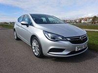 2016 VAUXHALL ASTRA 1.4 DESIGN 5 Dr 123 BHP SILVER 1 OWNER £9995.00