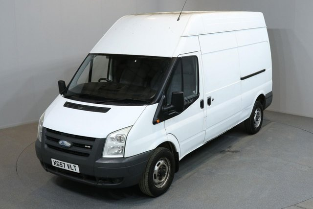 2007 57 FORD TRANSIT 2.4 350 100 BHP L3 H3 LWB HIGH ROOF NO VAT
