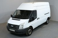 USED 2007 57 FORD TRANSIT 2.4 350 100 BHP L3 H3 LWB HIGH ROOF NO VAT SERVICE HISTORY