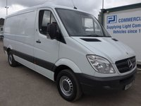 2013 MERCEDES-BENZ SPRINTER 313 CDI MWB LOW ROOF, 130 BHP [EURO 5], AIR CON, ELECTRIC PACK, 1 COMPANY OWNER £7995.00