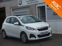 USED 2015 64 PEUGEOT 108 1.0 ACTIVE TOP 3d 68 BHP Touchscreen monitor, DAB radio , Bluetooth