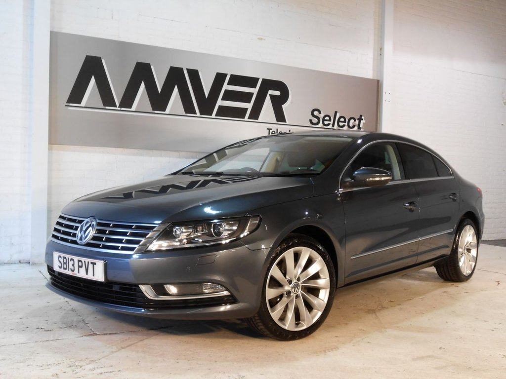USED 2013 13 VOLKSWAGEN CC 2.0 GT TDI BLUEMOTION TECHNOLOGY DSG 4d AUTO 175 BHP HIGH SPECIFICATION TECHNOLOGY MODEL WITH THE MORE POWERFUL 175BHP ENGINE & FULL SERVICE HISTORY