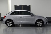 USED 2016 16 AUDI A1 1.6 TDI SPORT 3d AUTO 114 BHP STUNNING METALLIC ICE SILVER PAINT WORK, LOVELY BLACK, GREY CLOTH SPORTS TRIM, ALLOY WHEELS, REAR PARKING SENSORS, CRUISE CONTROL, BLUE TOOTH, MEDIA CENTRE, 1 OWNER, SERVICE HISTORY, PRESTIGE AUTO