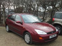 2002 FORD FOCUS 1.6 LX 5d 99 BHP £SOLD