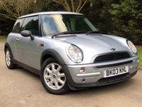 2003 MINI HATCH ONE 1.6 ONE 3d 89 BHP £1490.00
