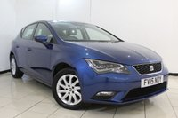 USED 2015 15 SEAT LEON 1.6 TDI SE TECHNOLOGY 5DR 105 BHP FULL SEAT SERVICE HISTORY + SAT NAVIGATION + BLUETOOTH + CRUISE CONTROL + MULTI FUNCTION WHEEL + AIR CONDITIONING + 16 INCHALLOY WHEELS