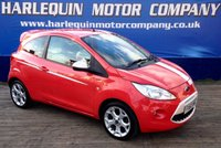 USED 2010 60 FORD KA 1.2 GRAND PRIX 3d 69 BHP VERY UNUSUAL SPEC FORD KA GRAND PRIX 3 DOOR TWO TONE RED AND WHITE INTERIOR IN SUN RISE RED WITH WHITE VIPER STRIPE ONLY 22000 MILES FULL SERVICE HISTORY