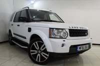 USED 2011 61 LAND ROVER DISCOVERY 3.0 4 SDV6 LANDMARK LE 5DR AUTOMATIC 245 BHP SERVICE HISTORY + HEATED LEATHER SEATS + SAT NAVIGATION + 7 SEATS + PARKING SENSOR + BLUETOOTH + CRUISE CONTROL + MULTI FUNCTION WHEEL + 20 INCH ALLOY WHEELS