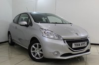 USED 2014 14 PEUGEOT 208 1.2 ACTIVE 3DR 82 BHP BLUETOOTH + CRUISE CONTROL + MULTI FUNCTION WHEEL + AIR CONDITIONING + 15 INCH ALLOY WHEELS