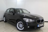 USED 2012 12 BMW 1 SERIES 1.6 116D EFFICIENTDYNAMICS 5DR 114 BHP BMW SERVICE HISTORY + SAT NAVIGATION + BLUETOOTH + CRUISE CONTROL + MULTI FUNCTION WHEEL + 16 INCH ALLOY WHEELS