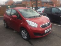 USED 2014 14 KIA VENGA 1.4 CRDI 2 5d 89 BHP CHEAP TO RUN ,VERY RELIABLE AND IN EXCELLENT CONDITION WITH KIA WARRANTY TO 2019!..EXCELLENT FUEL ECONOMY!..£30 TAX! ..FULL HISTORY(4 SERVICES)..ONLY 7730 MILES FROM NEW!!