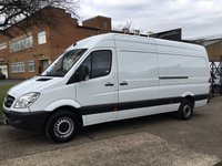 USED 2013 62 MERCEDES-BENZ SPRINTER 2.1 313CDI LWB HIGH ROOF 129BHP. 1 OWNER. FSH. CRUISE. LOW RATE FINANCE. PX WELCOME. BIG CHOICE.
