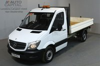 USED 2015 15 MERCEDES-BENZ SPRINTER 2.1 313 CDI 129 BHP MWB TIPPER ONE OWNER FROM NEW, SERVICE HISTORY