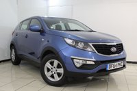 USED 2015 64 KIA SPORTAGE 1.7 CRDI 1 5DR 114 BHP FULL SERVICE HISTORY + BLUETOOTH + CRUISE CONTROL + MULTI FUNCTION WHEEL + CLIMATE CONTROL + AUXILIARY PORT + 16 INCH ALLOY WHEELS