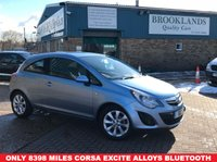 USED 2014 64 VAUXHALL CORSA 1.2 EXCITE AC 3d 83 BHP Only 8398 miles with Air Con alloys Bluetooth Radio CD Metallic Paint....