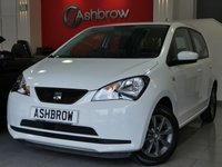 USED 2015 64 SEAT MII 1.0 I-TECH 5d 60 BHP SEAT PORTABLE SAT NAV WITH BLUETOOTH PHONE & MUSIC STREAMING, MANUAL 5 SPEED GEARBOX, COLOUR CODED EXTERIOR,  8 SPOKE BLACK ALLOY WHEELS, BLACK CLOTH INTERIOR, LEATHER STEERING WHEEL, ELECTRIC WINDOWS, AIR CONDITIONING, CD HIFI, AUX INPUT, REMOTE CENTRAL LOCKING, ISO FIX, FOLDING REAR SEATS, TYRE PRESSURE MONITORING SYSTEM, HEIGHT ADJUSTABLE DRIVERS SEAT.  1 OWNER FROM NEW, FULL SERVICE HISTORY, £20 ROAD TAX (105 G/KM), VAT QUALIFYING.
