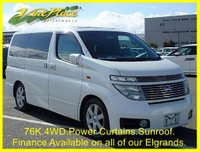 2003 NISSAN ELGRAND Highway Star 3.5 Automatic, 4 Wheel Drive, 8 Seats,Only 76K Miles with BIMTA certificate. £6000.00