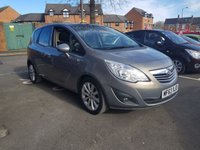 USED 2013 63 VAUXHALL MERIVA 1.4 SE 5d 99 BHP GOOD SPECIFICATION WITH PARKING SENSORS, PANORAMIC ROOF , CRUISE CONTROL, AND ALLOY WHEELS!!..EXCELLENT FUEL ECONOMY!..LOW CO2 EMISSIONS ..LOW ROAD TAX..FULL VAUXHALL HISTORY..ONLY 13587 MILES FROM NEW!!